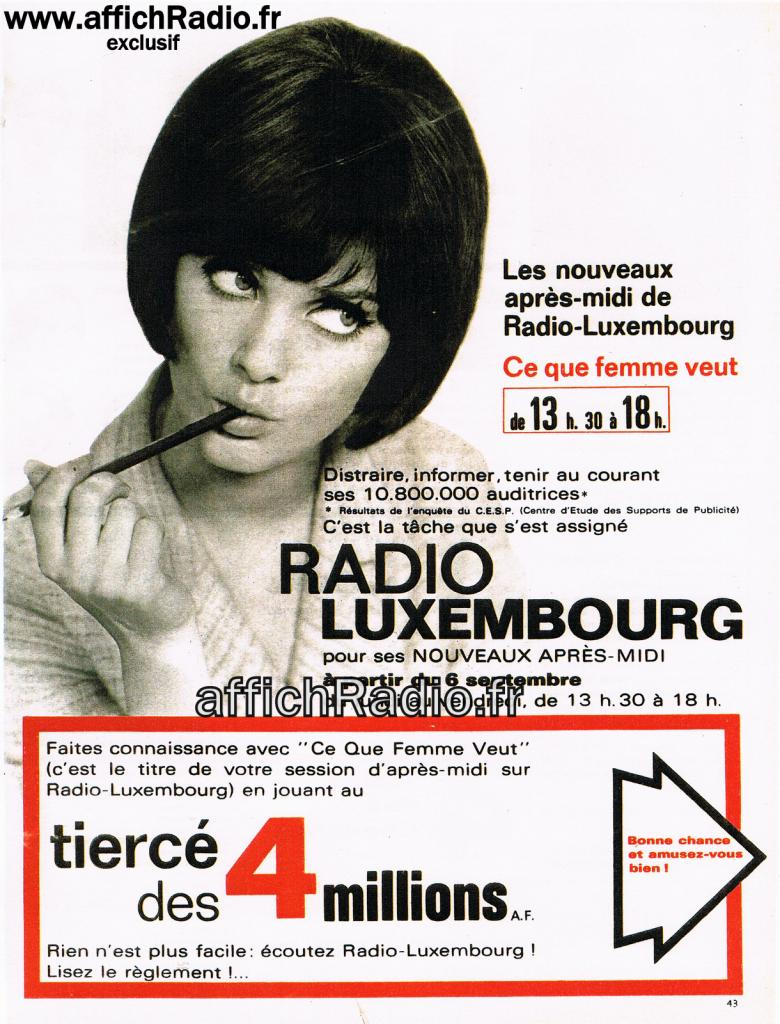 Radio luxembourg rtl ann es 50 et 60 for Cci luxembourg
