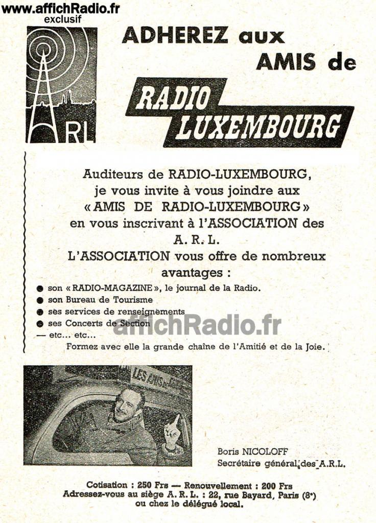radio luxembourg rtl ann es 50 et 60. Black Bedroom Furniture Sets. Home Design Ideas