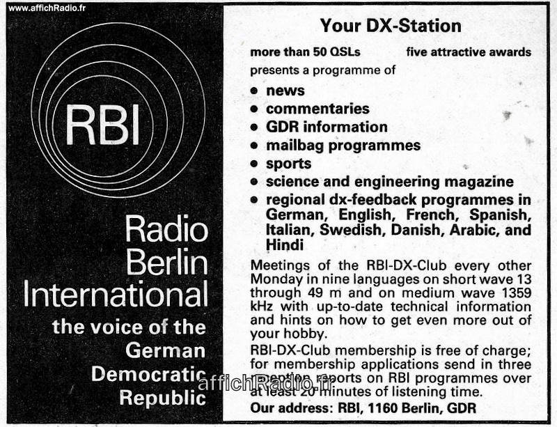 ALLEMAGNE (RDA)/ 1984
